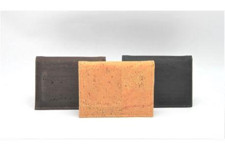 Portefeuille en liège pour homme format livre - 3 teintes (marron, liège naturel et noir)