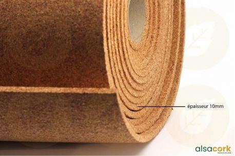 Rouleau de liège standard pour isolation thermique et phonique - Rouleau de 2mm vue de la texture