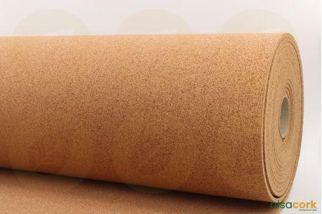 Rouleau sous-couche en liège dense - Vue de profil rouleau de 2mm