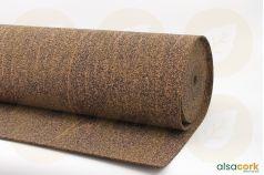 Rouleau de sous-couche caoutchouc et liège - Vue de texture du rouleau 4mm