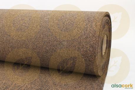 Rouleau de sous-couche caoutchouc et liège - Vue de profil du rouleau 8mm