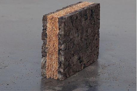 Panneau isolant en liège et fibre de coco Corkoco - Amorim - liège10 + coco20 + liège10