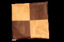 Housse de coussin en liège bi-ton naturel/marron